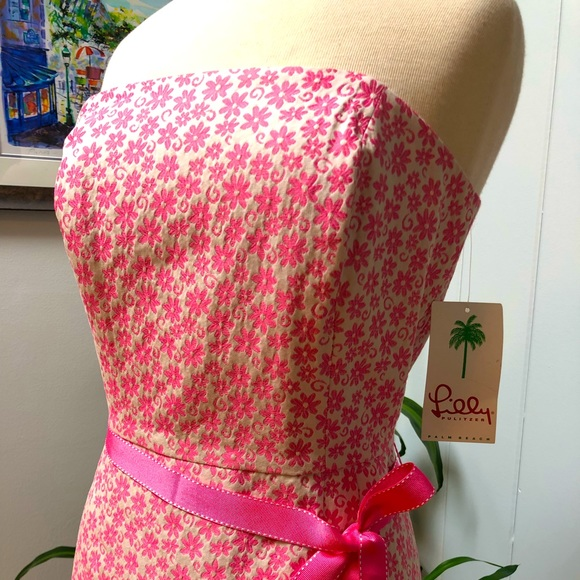 Lilly Pulitzer Sienna Hibiscus Pink Dress NWT 10